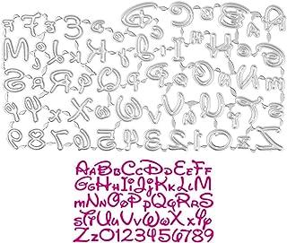 UFLF Dies Chiffres Alphabet Matrices de Découpe Lettre en Métal Scrapbooking pour Timbres Matrices en Relief Décoration de...