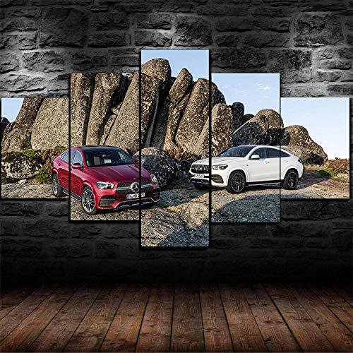 GIRDSS Leinwanddrucke Kreatives Geschenk 5 Stück Leinwand Moderne Wandbilder XXL Wohnzimmer Wohnkultur Gerahmtes * Poster020 Mercedes-Benz Geländewagen Amg Roadster SUV