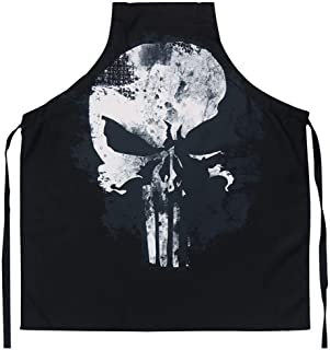 Marvel The Punisher Distressed Skull Cooking Apron - Adjustable Adult Size - Great for Cooking & Grilling