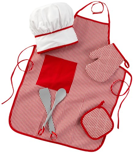 KidKraft Tasty Treats Chef Accessory Set - Red, Standard Packaging