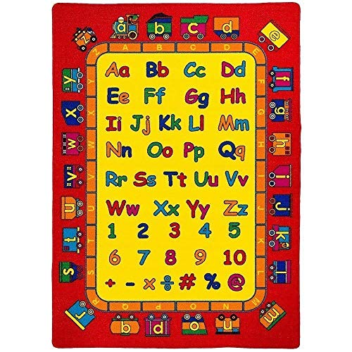 "Mybecca ABC Fun Kids Rugs Playtime Area Rug, 5"" x 8"" Non-Slip Backing"