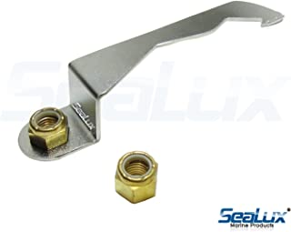 SeaLux Marine Stainless Steel Propeller Wrench and lock for tab washers fit and 2 Brass 1-1/16