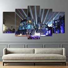 Wall art 5 canvas paintings Home Decor Living Room HD Printed Canvas Poster 5 Pieces Shiva Parvati Ganesha Paintings Wall ...