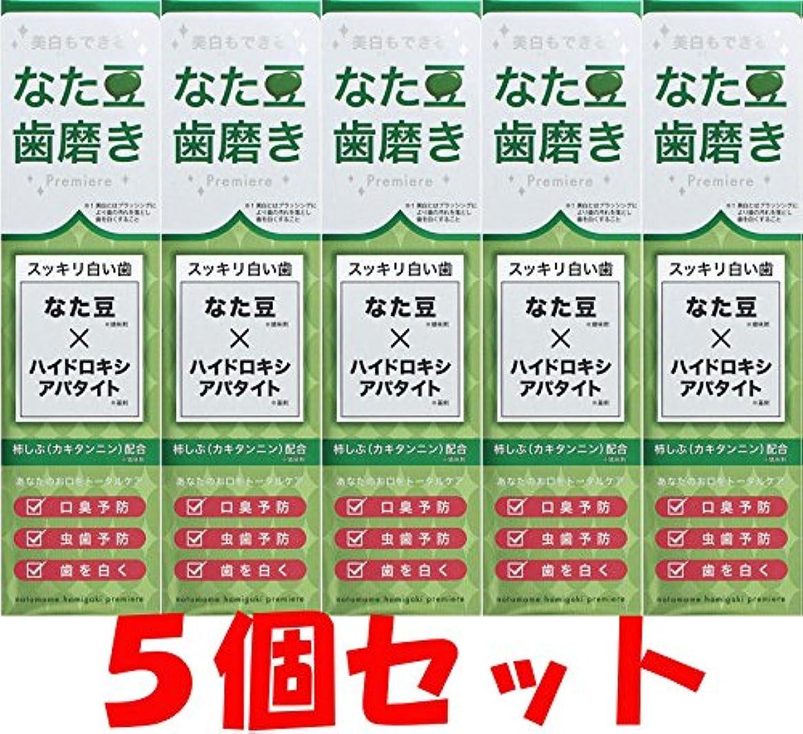 コンサート財政フィットなた豆歯磨きプレミア 120g×5個セット