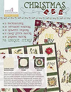 Anita Goodesign CHRISTMAS 1 2 3 Special Edition Embroidery Machine Designs CD