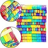 Sunshine smile Holzeisstiele zum Basteln,300 Stück Farbe Holzstäbchen,Holzstiele,Eisstiele aus Holz, Holzspatel Stiele,Popsicle Sticks,Craft Sticks,Holzstäbe - 3