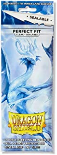 Dragon Shield Sealable Inner Sleeve Clear Standard Size 100 ct Card Sleeves Individual Pack