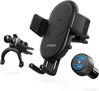 Anker Wireless Charger, PowerWave 7.5 Car Charger with Air Vent Phone Holder, 7.5W for iPhone 11, 11 Pro, 11 Pro Max, 10W ...