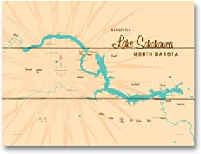 lake sakakawea map