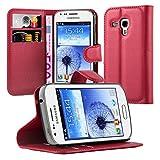 Cadorabo Funda Libro para Samsung Galaxy Trend DUOS en Rojo CARMÍN - Cubierta Proteccíon con Cierre Magnético, Tarjetero y Función de Suporte - Etui Case Cover Carcasa