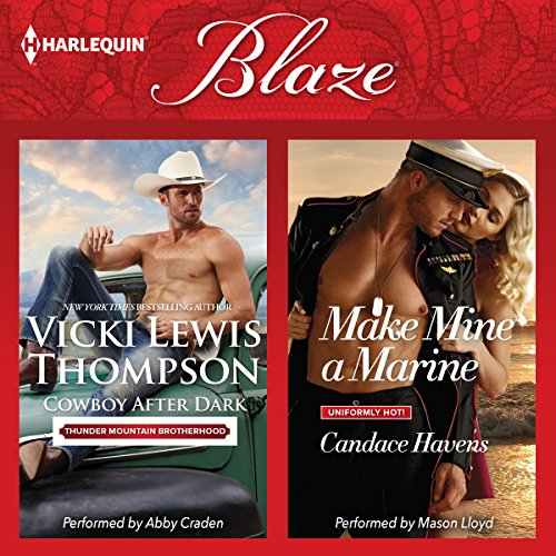 Cowboy After Dark & Make Mine a Marine audiobook cover art