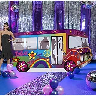 60s Sixties Groovy Bus Standee Standup Photo Booth Prop Background Backdrop Party Decoration Decor Scene Setter Cardboard Cutout