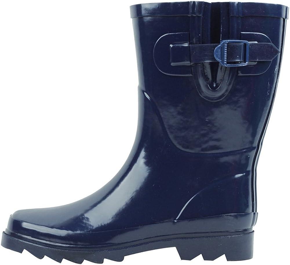 Cambridge Select Women's Waterproof Pull On Mid Calf Welly Rain Boot