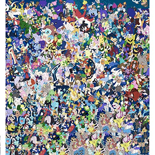 Rowa Pokemon Puzzle Pikachu Wizard Puzzle League Schatz Can Dream Puzzle 1500 Stück for Erwachsene Und Kinder Home Interactive Spiel (Color : 1500PC)