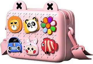 Richgv Borsa a tracolla impermeabile con tracolla a tracolla per bambina, 7,2x5,5x2,8 pollici(rosa)…