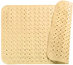 Genenic Bathroom Shower Mat Non Slip Round Massage Point Shower Bath Rug with Suction Cups and Drain Holes Home Hotel Toil...