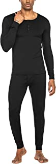 Men's and Women's Thermal Underwear Sets Micro Fleece Lined Long Johns Base Layer Thermals 2 Piece Set