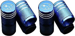 EVPRO Valve Stem Caps for Car Tire Decorative 4 Pack Blue Fit Subaru Accessories