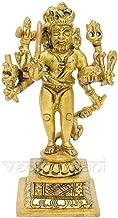Vedic Vaani Lord Hindu God Shri Kaal Bhairav/Shri Kaal Batuk Bhairava/Bharav/Bhirav Meatl Brass Idol, Statue Murti, Sculpture, Figurine for Home Temple, Puja Room