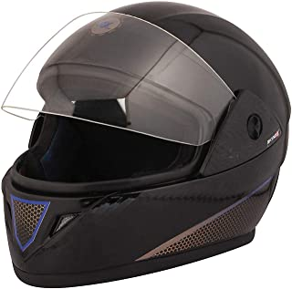 VARSHINE RHHYN@X FULL FACE HELMET || BLACK COLOR || Medium Size ||ISI APPROVED || WITH HYDROGRAPHICS || Unbreakable PC Visor with Double Layer Silicon Hardcore Coating || Scratch Resistant || MODEL- JETTY