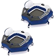 Intex River Run Connect Lounge Inflatable Floating Water Tube 58854EP (2 Pack)