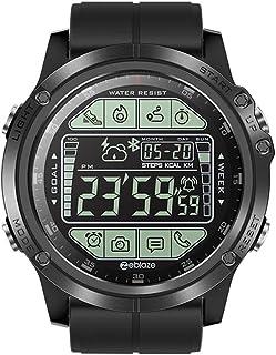 Wristwatch Reloj Inteligente Redondo, Larga Espera, sincronización meteorológica, recordatorio de Llamada Android iOS Reloj Impermeable al Aire Libre