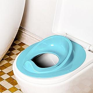 Newcomdigi R/éducteur Toilette Enfant Si/ège Toilette Enfant R/éducteur WC Enfant Pliable D/émontable Portable Solide Anti-glissant Compagnon de Voyage Bleu