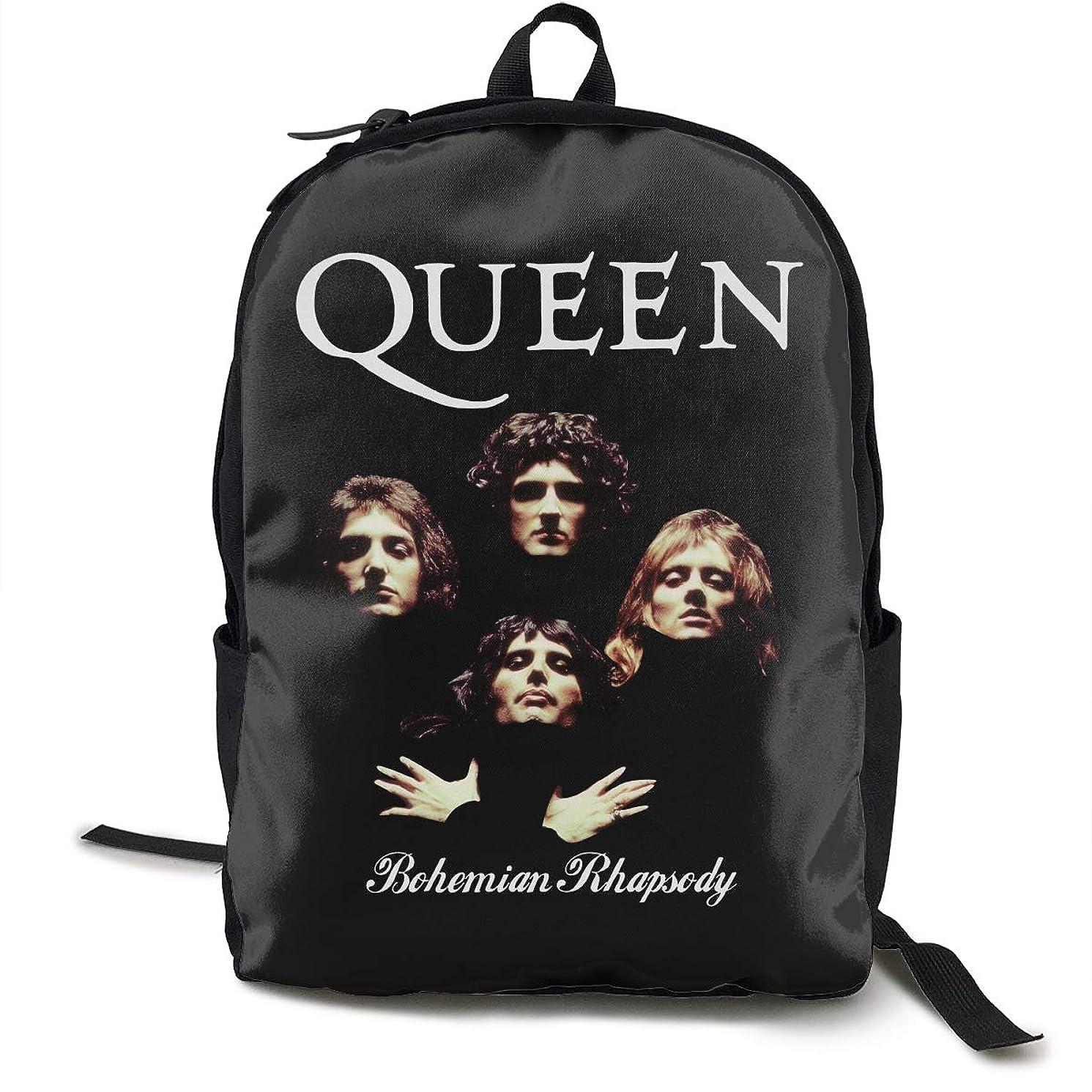Queen Band Bohemian Rhapsody Backpacks Waterproof Shoulder Bags Laptop School Travel Large Bag For Men Women Black