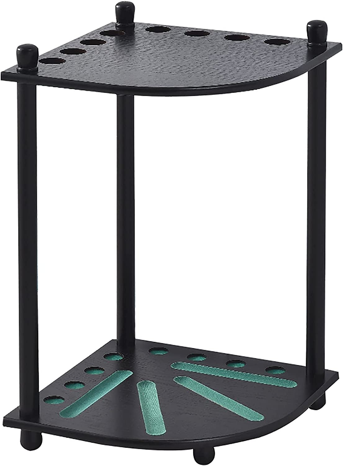 YSML 8-Hole Pool Cue Rack Inexpensive Deluxe Attention brand Stand Floor Billiard Corner St
