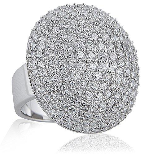 Sif Jakobs Jewellery Damen Ring Pozzolo oval mit weißen Zirkonen, Gr. 58