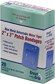 Medique Products 67271 Water Tight Bandage,  Blue Metal Detectable,  2-Inch X 3-Inch,  20-Count