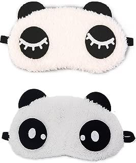 Jenna Eyelashes Dot Panda Sleeping Eye Mask White Free Size (Pack of 2)