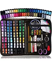 ARTIKA® SEWING KIT, Over 110 Quality Sewing Supplies, 48 Spools of Thread, XL sewing kits for DIY, Beginners, kit de couture, Emergency, Kids, Summer Campers, Travel and home