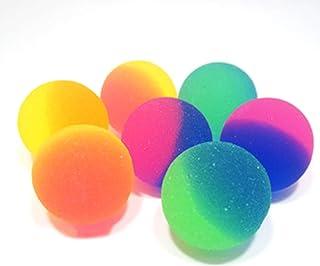 Xinlie Bouncy Ball Bolas De Goma Bolas Inflables Pelota hinchable de Goma Pelotas Saltarinas Pelotas de Goma Bouncy Balls Usadas como Relleno De Bolsas para Fiestas para El Recreo Y Recompensas(50PCS)