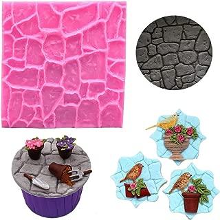 Fondant Impression Mat, Cobble Stone Wall texture Design- Silicone-Cake Decorating Supplies for Cupcake Wedding Cake Decoration