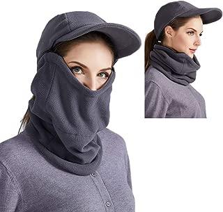 ToVii Balaclava Fleece Hood Sets Winter Windproof Cap with Detachable Neck Gaiter Warmer for Men and Women