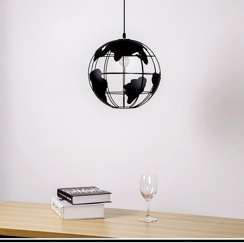 Creative Arts Cafe Bar Restaurant Schlafzimmer Flur Lampe Scandinavian moderne minimalistische Single-Kopf-Kronleuchter mit schwarzen Erde