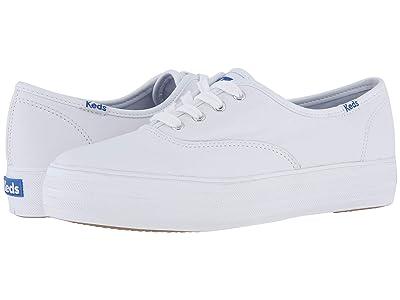Keds Triple Leather (White) Women