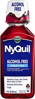 Best Vicks NyQuil, Alcohol Free, Cough, Cold & Flu Relief, Sore Throat, Fever, & Congestion Relief, Berry Flavor, 12 Fl Oz Review