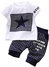 Canis Baby Boy Kid 2 Piece Star Sportswear Clothes T-Shirt Top Short Pants Outfit Set
