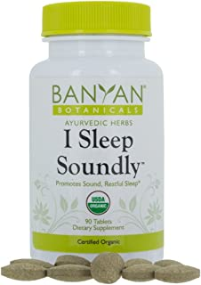 Banyan Botanicals I Sleep Soundly - USDA Organic, 90 Tablets - Non Habit Forming Ayurvedic Herbal Sleep Aid*