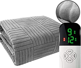 Electric Blanket, Single Person Single Control Comfort Thick Plush Heated Throw,Safe and Radiation-Free, Intelligent Autom...