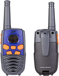 NERF 37756 10 Mile Walkie Talkie Set, Delivers Transmission with 10 Mile Communication Range, Flexible Saftey Antenna and Morse Code with On/Off Switch, Orange and Black