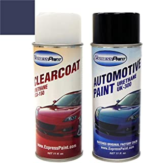 ExpressPaint Aerosol - Automotive Touch-up Paint for Ford F-150 - Blue Jeans Metallic N1 - Color + Clearcoat Package