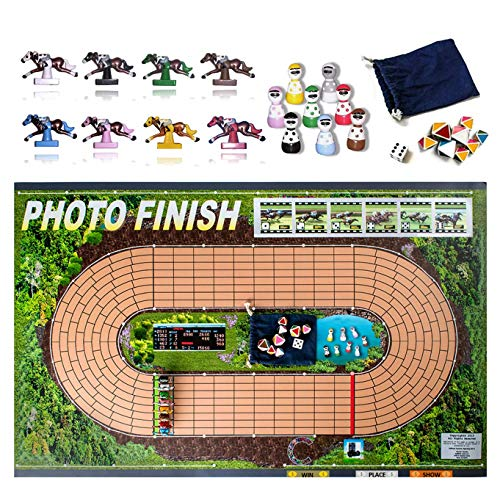 Photo Finish Horse Track Racing Board Game | Best New Fun Parlor Party Game | Original, Classic Edition | Improved Horses