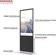 HUSHIDA 49-inch Interactive Digital Signage LCD Plane 1080p Floor Standing Kiosk Full HD with 10-Point Infrared Touch Screen for Display Monitor