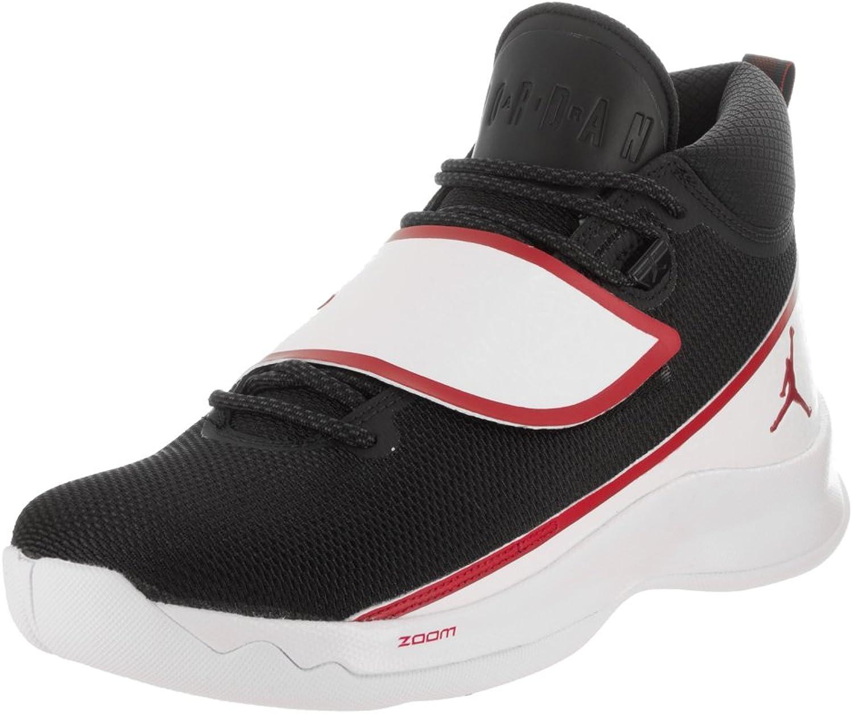 Jordan Nike Men's Super.Fly 5 PO Black Gym Red White Basketball shoes 10.5 Men US