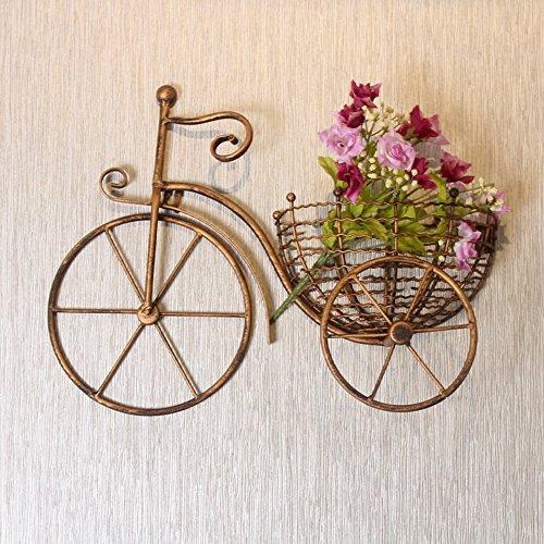 QFF Cadre en bois de style européen suspendu Cadre de fleur créatif salon de cuisine balcon pots suspendus panier de pâtes en bois blanc ( Couleur : Or )