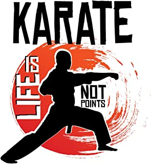 Karate is Life, Not Points - Wall Decor Art Print on a white background - 8x10 unframed karate-inspired print - great gift...