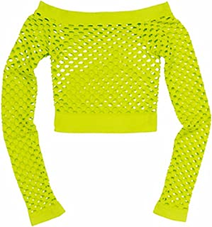 Neon Citric Green Fishnet Top